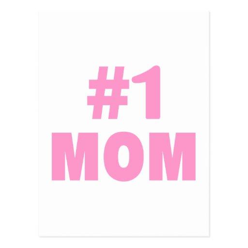 #1 Mom (Pink) Post Card