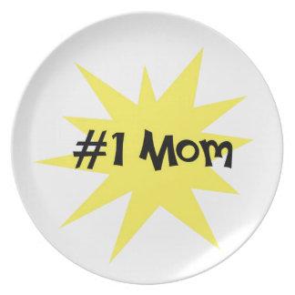 #1 Mom Dinner Plate