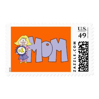 #1 Mom Stamp