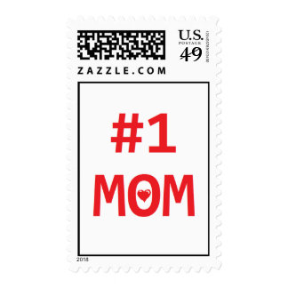 #1 Mom Postage Stamps