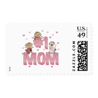 #1 Mom Postage Stamp