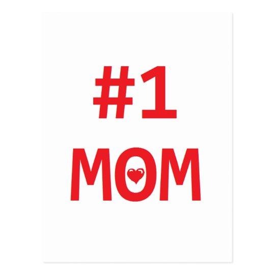#1 Mom Postcard