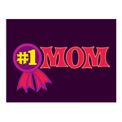 Postcard with #1 Mom Award design