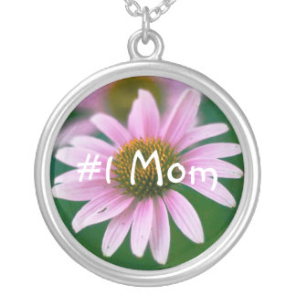 #1 Mom Round Pendant Necklace