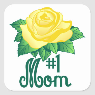 #1 Mom Square Sticker