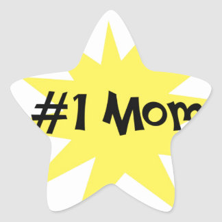 #1 Mom Star Sticker