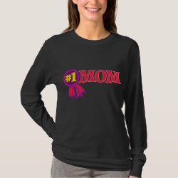 Women's Basic Long Sleeve T-Shirt with #1 Mom Award design