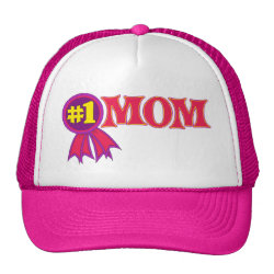 Trucker Hat with #1 Mom Award design