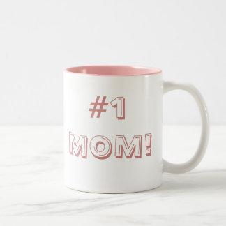 #1 MOM! Two-Tone COFFEE MUG