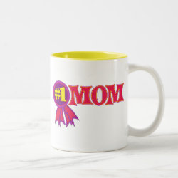 Two-Tone Mug with #1 Mom Award design