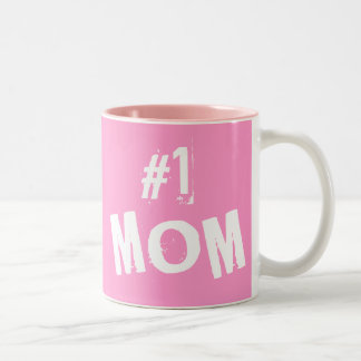 #1 MOM Two-Tone COFFEE MUG