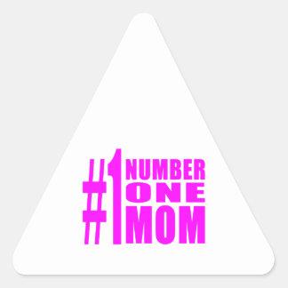 #1 Moms Birthdays & Christmas : Number One Mom Triangle Sticker