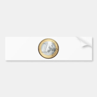 1 moneda EURO Pegatina Para Auto