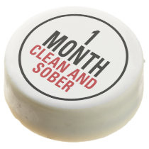 1 Month Clean and Sober Chocolate Dipped Oreo