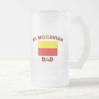 #1 Moravian Dad Frosted Glass Beer Mug