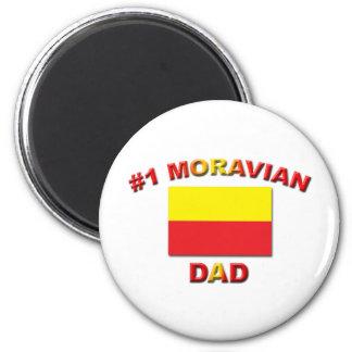 #1 Moravian Dad 2 Inch Round Magnet
