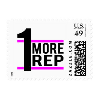 1 More Rep in Pink Postage Stamp