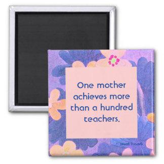 1 mother vs 100 teachers. Jewish Proverb Magnet