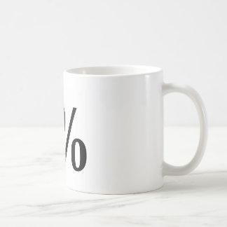 1% CLASSIC WHITE COFFEE MUG