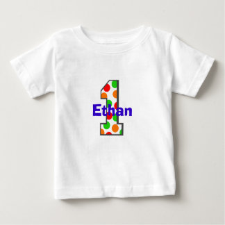 1 Multi Colored First Birthday Shirt