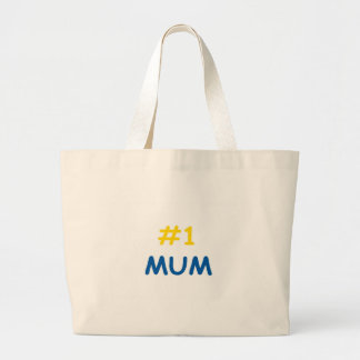 #1 mum best mother large tote bag