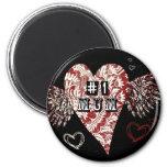 #1 Mum Urban Fleur Winged Heart Magnets