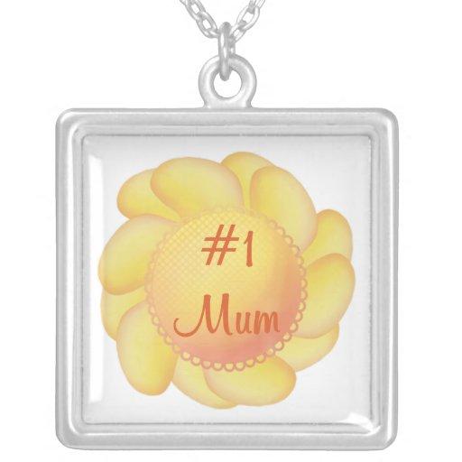 #1 Mum (yellow flower) Pendant