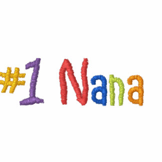 #1 Nana Embroidered T-shirt