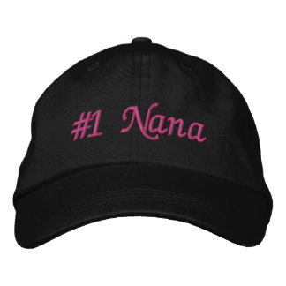 #1 Nana (Number One Nana) Mother's Day Embroidered Baseball Hat