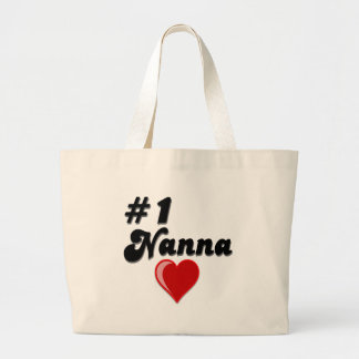 #1 Nanna Grandparent's Day Gifts Large Tote Bag