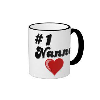 #1 Nanna Grandparent's Day Gifts Ringer Coffee Mug