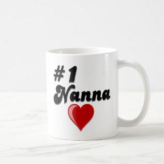 #1 Nanna Grandparent's Day Gifts Classic White Coffee Mug