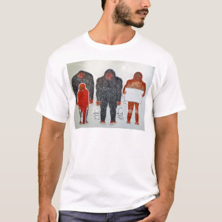 1 Neanderthal & 3 Big foot,on white,.JPG T-Shirt