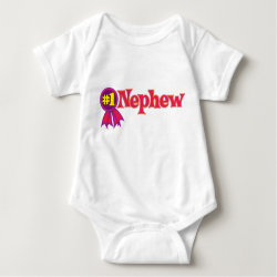 Baby Jersey Bodysuit with #1 Nephew Award design
