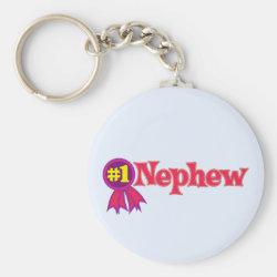 Basic Button Keychain with #1 Nephew Award design