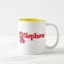 Two-Tone Mug with #1 Nephew Award design