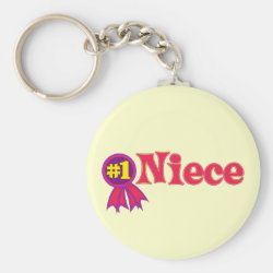 #1 Niece Award Basic Button Keychain