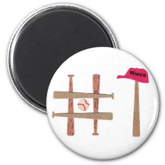 #1 Niece 2 Inch Round Magnet