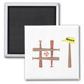 #1 Niece 2 Inch Square Magnet