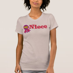 Women's American Apparel Fine Jersey Short Sleeve T-Shirt with #1 Niece Award design