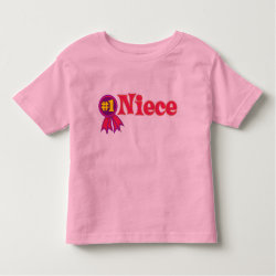 #1 Niece Award Toddler Fine Jersey T-Shirt