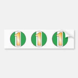 1 NIGERIA Gold Bumper Sticker