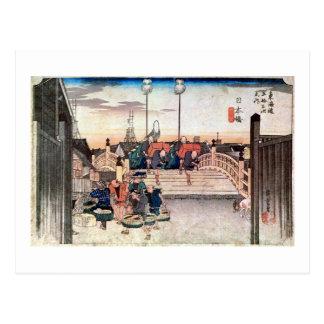 1. Nihonbashi, Hiroshige Postcard