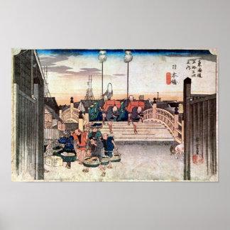 1. Nihonbashi, Hiroshige Poster