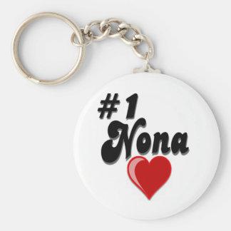 #1 Nona - Celebrate Grandparent's Day Keychain