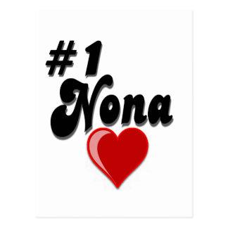 #1 Nona - Celebrate Grandparent's Day Post Card