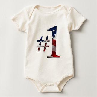 #1 (Number 1) Baby Bodysuit
