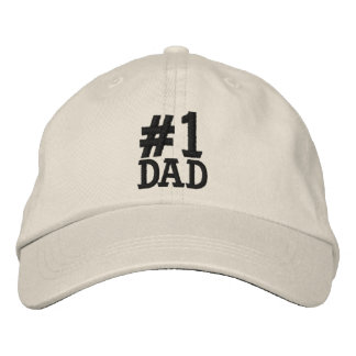 #1 Number One DAD Embroidered Cap