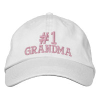 #1 Number One Grandma Embroidered Cap Embroidered Hats