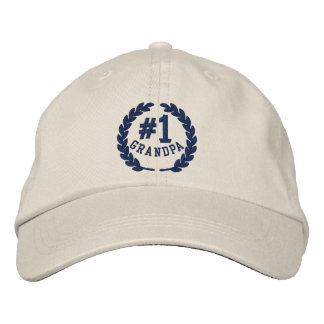#1 Number One Grandpa Embroidered Cap